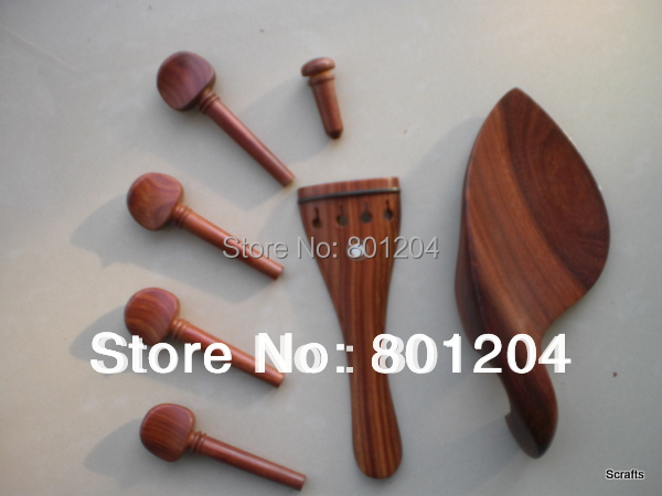 8 sets Siam rosewood violin accessory with chinrest, tailpiece, pegs, endpin(China (Mainland))
