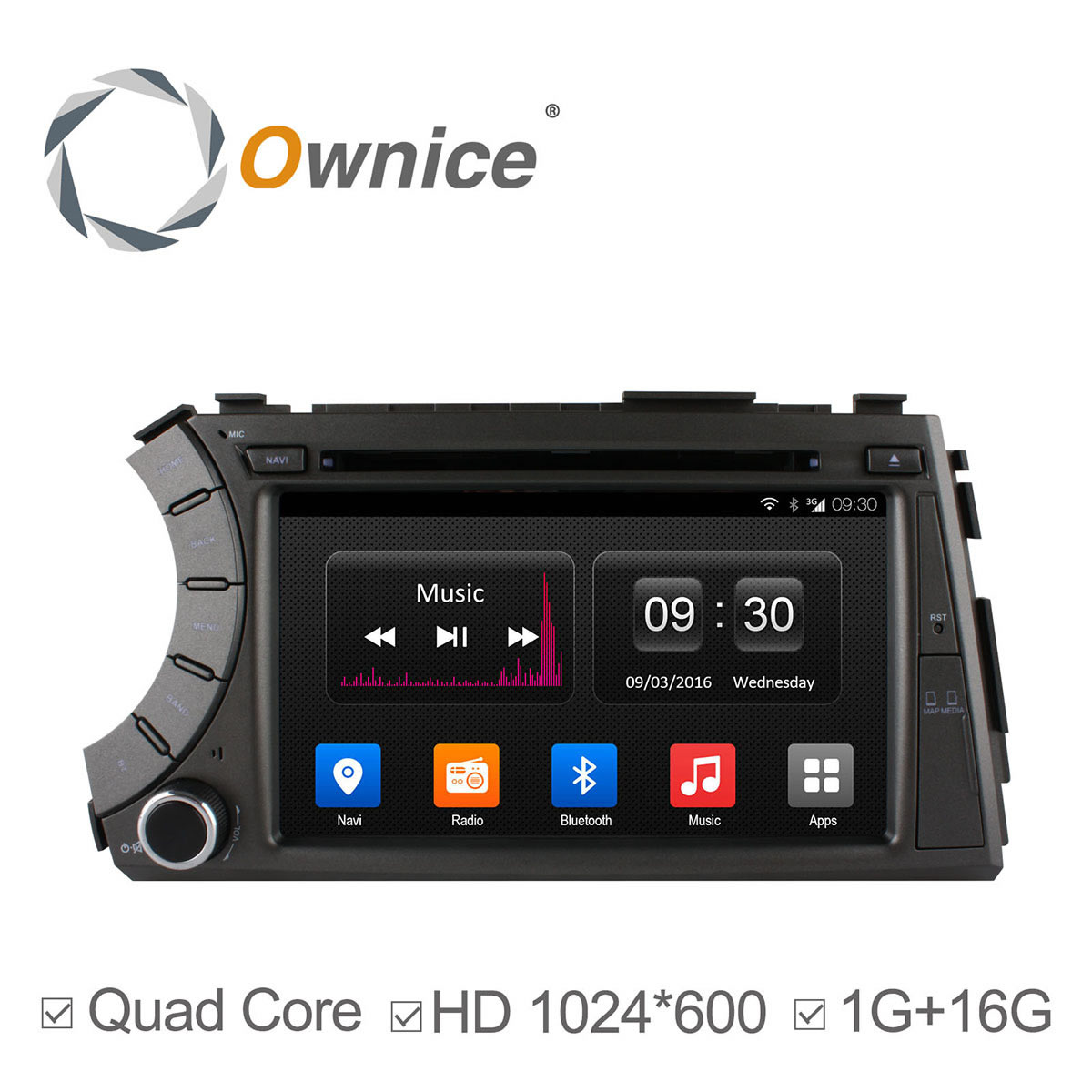 1024X600 Quad Core Android4.4 Car DVD For SsangYong Kyron Actyon 2005-2013 GPS Radio Stereo wifi 3G BT 16G ROM support DAB+ TPMS(China (Mainland))