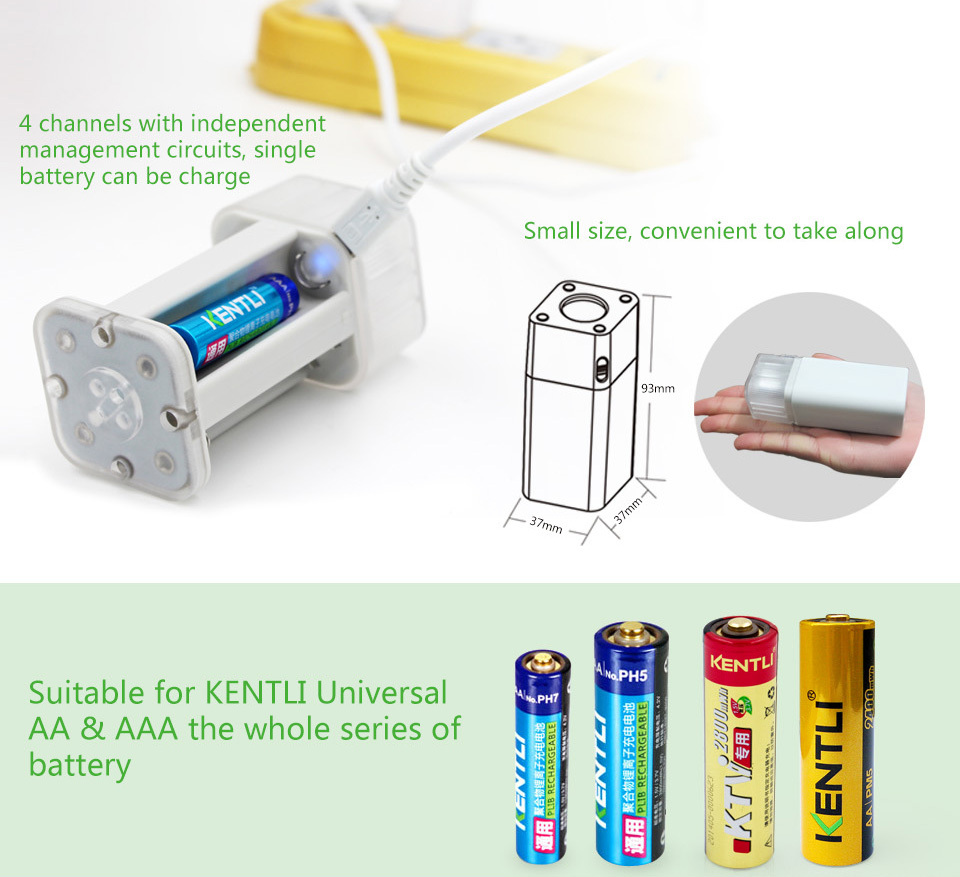 8pcs 1 5V AA PK5 rechargeable lithium powerful battery 4 PORTS aa aaa protable charger with