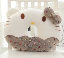 Super cute 1pc 40cm funny My Melody bowknot hello kitty round plush chair pillow cushion stuffed toy Valentine's Day gift