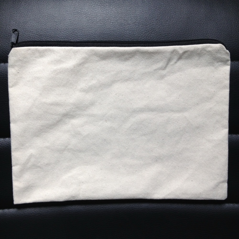 (100pcs/lot)plain natural light ivory color pure cotton canvas coin purse with zipper unisex casual wallet blank cotton pouch(China (Mainland))