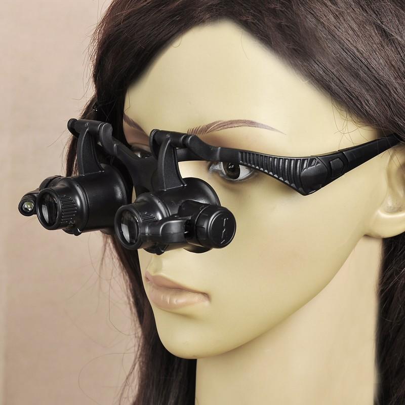 Aliexpress.com : Buy Wearing magnifier LED lamp glasses ...