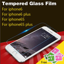 Premium Tempered Glass For Apple iphone 6 6S Plus 5 5S 5C 4 4s Screen Protector 9H 2.5D Protective Film With cleaning tools