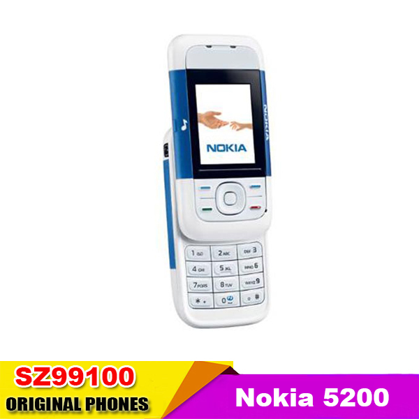 Original unlocked Nokia 5200 A variety of color Mobile Phone Slide phone Russia keyboard Good quality Refurbished Free Shipping(China (Mainland))