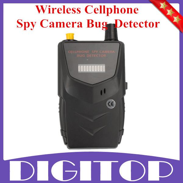 Hot Sale HS-007B Wireless Spy RF Signal Bug Detector Spy Camera Bug Detector -Detect WiFi Audio Cell Phone Free Shipping(China (Mainland))