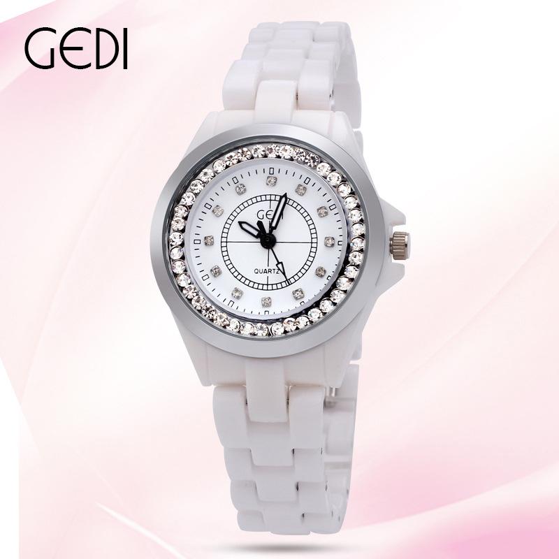 Fashion Korean Trend Ceramic Diamond setter Rose Gold Ladies Watch  Relojes Mujer Womens Wristwatch Luxury Watches Women<br><br>Aliexpress