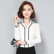 Buy 2017 New Women Casual Basic Autumn Winter Lace Chiffon Blouse Top Shirt blusas Stripe OL Work Wear V-neck Full Sleeve Plus Size for $14.97 in AliExpress store