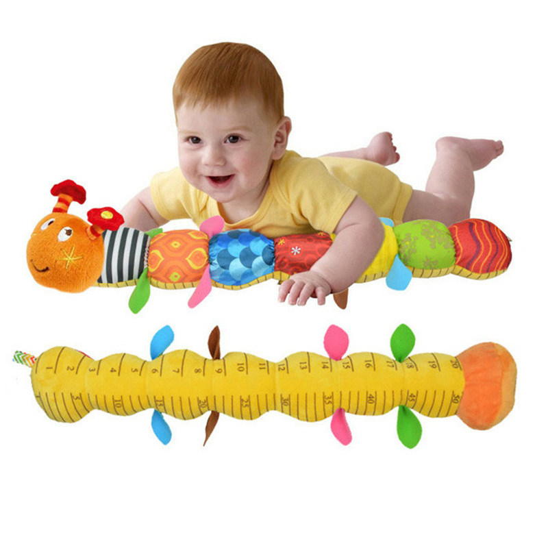 New Baby Toy Musical Caterpillar Rattle with Ring Bell Cute Cartoon Animal Plush Doll Early Educational(China (Mainland))