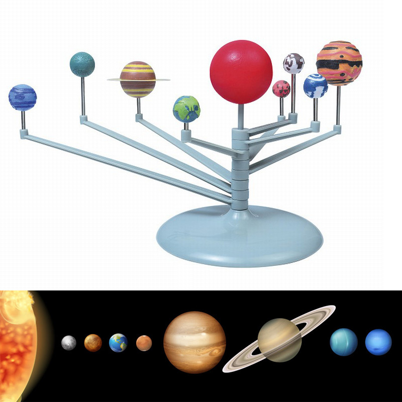 Model Building Kits Nine Planets in Solar System Planetarium Painting Science Teaching Toys Children Educational DIY Gift(China (Mainland))