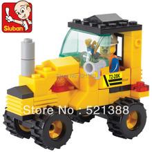 Educación de bricolaje juguetes para niños Sluban Building Blocks tractor ladrillos autoblocantes Compatible con Lego
