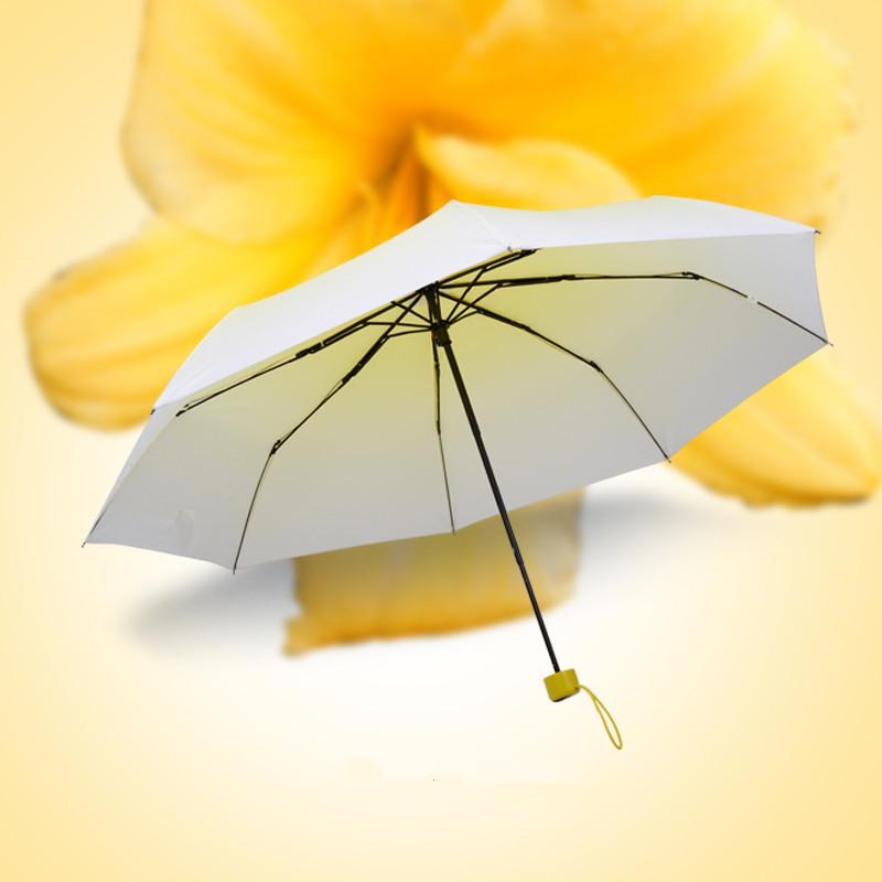 Top Quality Creative Umbrella For Women UV Proof Sun Protection Three Folding Umbrella Fashion Brand Sombrinha De Chuva(China (Mainland))
