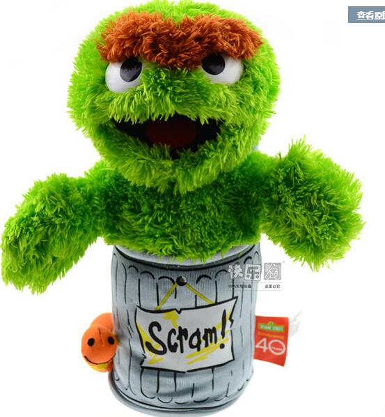 Sesame street plush toys trash doll 28cm(11.02'')newborn baby toys children's favorite gift(China (Mainland))