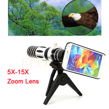 Buy 2017 5X-15X Optical Zoom Lens Telescope Phone Camera Telephoto Lenses Tripod Cases Samsung S3 S4 S5 S6 S7 edge note 4 5 for $49.80 in AliExpress store