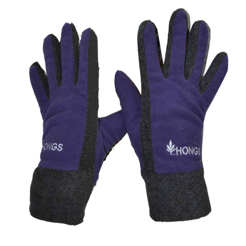 Outdoor ride slip-resistant autumn and winter thermal fleece windproof gloves male Women cold-proof skiing fishing gloves