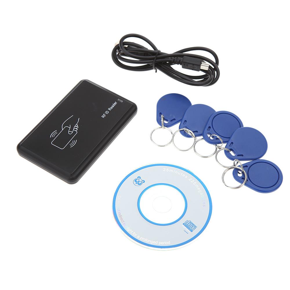 Non-Contact 13.56MHZ USB IC Card Reader Contactless 14443A Card Encoder IC Card Writer 5pcs Cards + 5pcs Key Fob Access Control(China (Mainland))