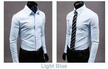 2015 Mens Slim fit Unique neckline stylish Dress long Sleeve Shirts Mens dress shirts 17colors ,size: M-XXXL 6492(China (Mainland))