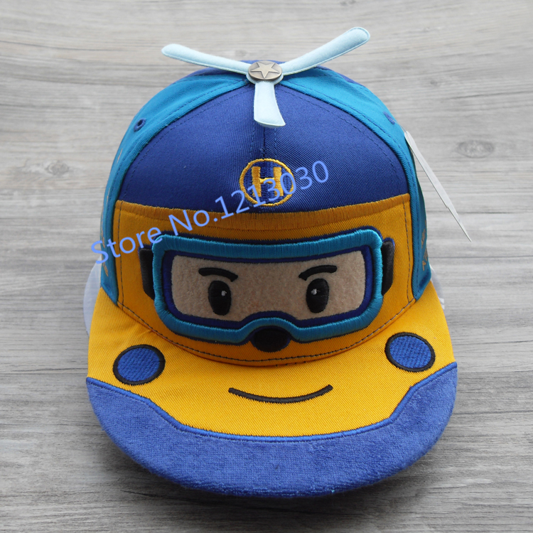 High quality spring new cartoon robot flat along the hip-hop cap children South Korea's private baby hats()