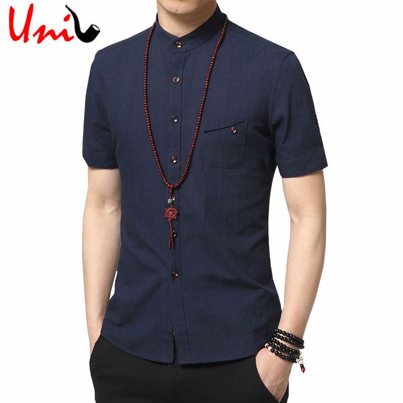 Men 39 s artsy casual shirts for Mens summer linen shirts