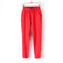 2016 Summer bestselling  Pants thin Plus Size Women Pants Casual Harem Pants Drawstring Elastic Waist Pants  Women Trousers(China (Mainland))