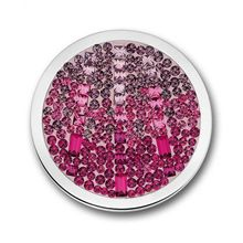Fashion Cascada Disc Hot Pink Crystal 33mm Large Mi Coin Moneda(China (Mainland))