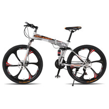 26 дюймов 21 скорость Модный горный велосипед двойные дисковые тормоза складные горные велосипеды bicicleta велосипед(China)