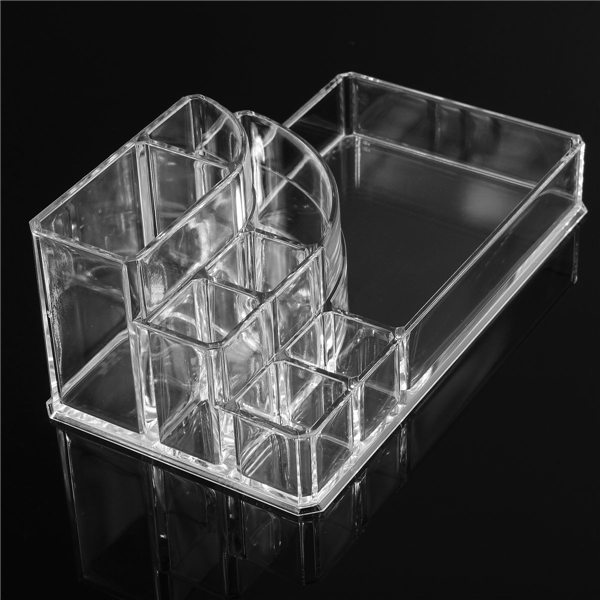 2015 New Clear Makeup Jewelry Cosmetic Storage Display Box Acrylic Case Stand Rack Holder Organizer(China (Mainland))