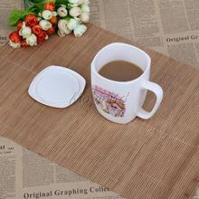2PCS Bamboo Place Mats Heat Insulation Pad Dinning Rectangle Placemats 43x30cm  (China (Mainland))