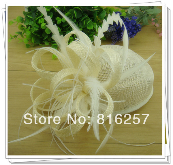 Free shipping high quality fascinators/nice feather hair accessories/ sinamay hats/event headwear FS119(China (Mainland))