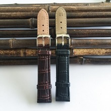 Quality pu leather watchband 24mm 2015 factory hot relogio men's bamboo grain car line steel buckle watch straps 20mm clock J009