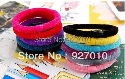 Min order is $10(mix order) Quality wire beads comfortable headband hair rope hair jewelry accessory rubber hairwear(10pcs/lot)(China (Mainland))