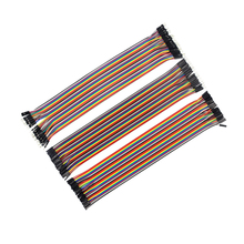 Buy 120pcs 30cm male male + male female female female DuPont cable line Jumper Connector Breadboard arduino kit for $3.17 in AliExpress store