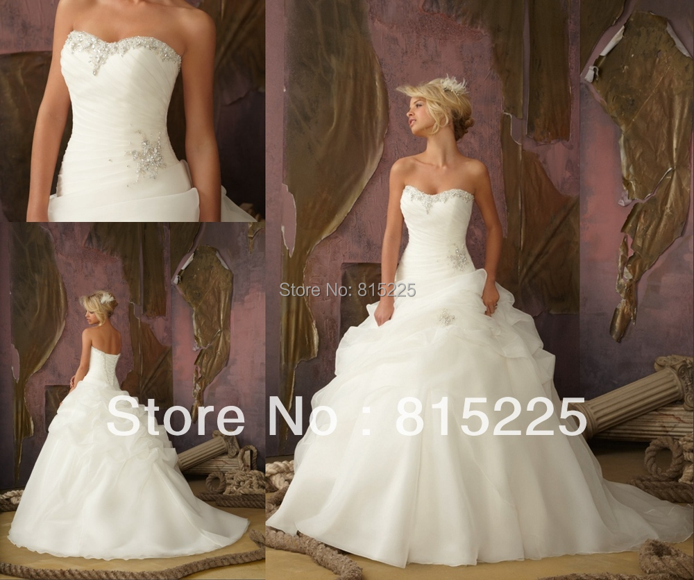 Ball Gown Wedding Dress Material : Upscale ravishing ball gown wedding dress bridal organza material