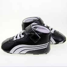 baby boy shoes white and black leather football first-walkers home toddler shoes size 2 3 4 in US freeshiping(China (Mainland))
