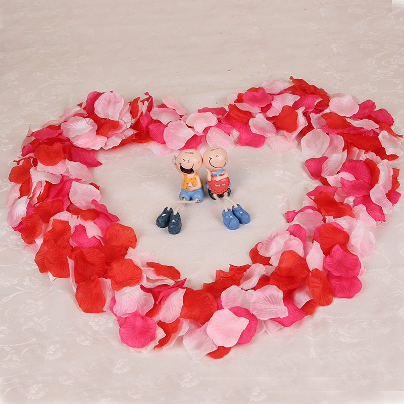 Top quality 500pcs or 1000pcs Silk Rose Flower Petals Leaves Wedding Decorations Party Festival Table Confetti