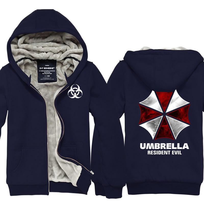 High QualityBiohazard Umbrella Corporation Resident Evil Coat Cosplay Costume Hoodie Jacket(China (Mainland))