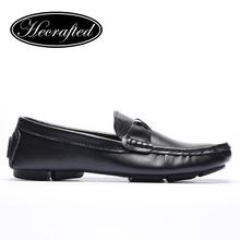Size 35~50 Handmade Genuine leather men Flats,Soft leather men Moccasins,men flat shoes#8803(China (Mainland))