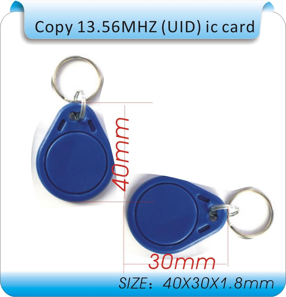 100pcs F-08 (Compatible MFS50) 13.56MHz RFID IC Key Tags Keyfobs Token NFC TAG Keychain(China (Mainland))
