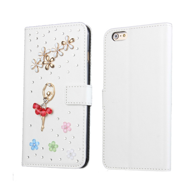 """For Apple iphone 6 4.7 inch Crystal Bling Case , Stand Wallet Leather Cover Cases For iphone6 4.7"""" Card Slot Holder(China (Mainland))"""