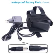 8.4 В 6400 мАч 4 * 18650 аккумуляторная батарея для велосипед из светодиодов фары фара с водонепроницаемый силиконовый куртка
