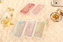 "Buy Hot Clear Liquid Glitter Sand Fluorescent Love Heart Bling Back Case Cover iPhone 4 4G 4S SE 5 5S 5G 5C 6 6S 7 & Plus 5.5"" for $1.25 in AliExpress store"