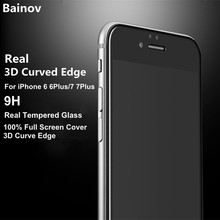 Buy Bainov Real 3D Curved Edge Screen Protector film iPhone 7 7Plus Full Cover Tempered Glass iPhone 6 6s Plus for $3.49 in AliExpress store