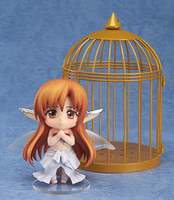 Anime Sword Art Online Asuna PVC Action Figure Nendoroid #382 Asuna Titania ver Cute Figure Doll Collectible Model Toys KC092