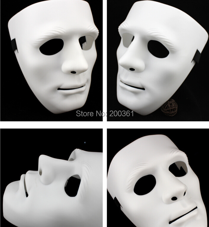 free transit 5 pieces adult white Blank Men women Venetian Mask Masquerade Hiphop Cosplay Dance prop Halloween Party Christmas - happy123store store