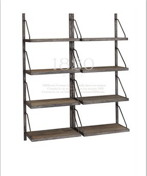 LOFT style display cabinets , wrought iron staircase with wrought iron furniture , wrought iron antique bookcase shelf wall disp(China (Mainland))