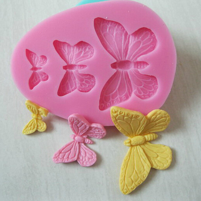 New & Hot Beautiful Butterfly Modelling Fondant Decoration Mold Silicone Cake Chocolate Mold 1PC(China (Mainland))
