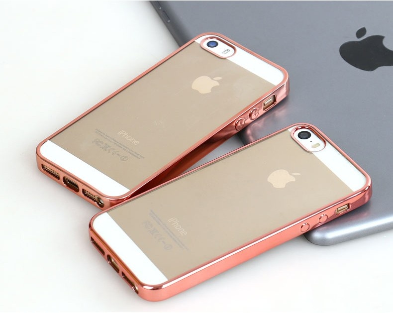Royal Luxury style Plating Gilded TPU for iPhone 5s SE Case For Apple iPhone 5 5g 5s SE silicone soft Back Case Cover
