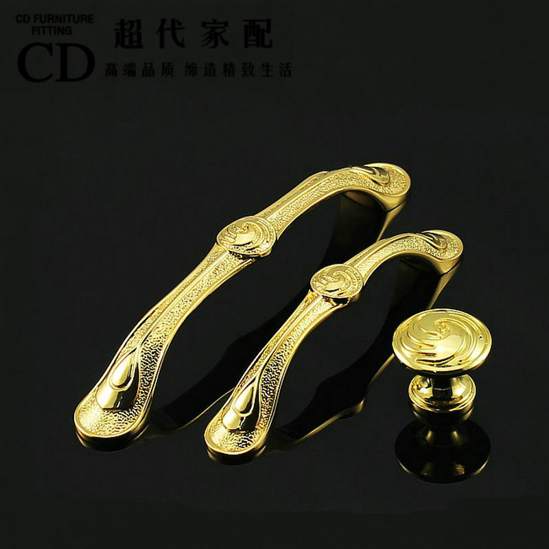 European high-grade gold-plated salad hand cupboard drawer wardrobe door handle furniture gold