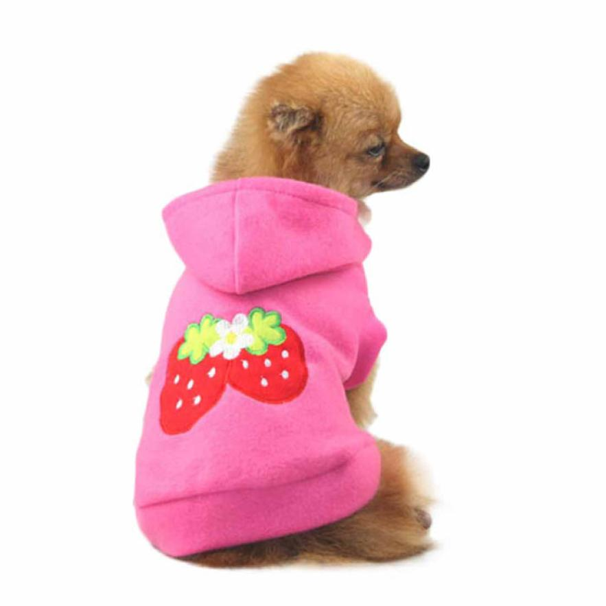Winter Warm Pet Dog Clothes Vest Soft Cotton Dog Coat Jacket Cute Cartoon Clothing Costume Small Puppy Dogs Chihuahua -30