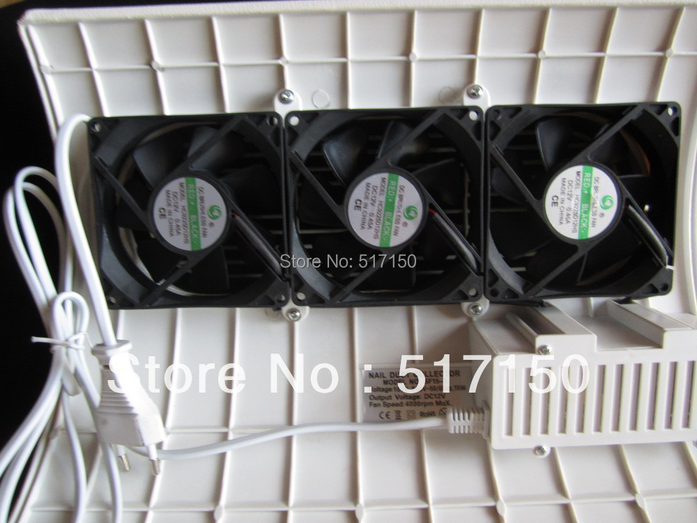 3 fan Nail dust suction collector vacuum cleaner 100V-250V 15w CE ROHS certificated collector