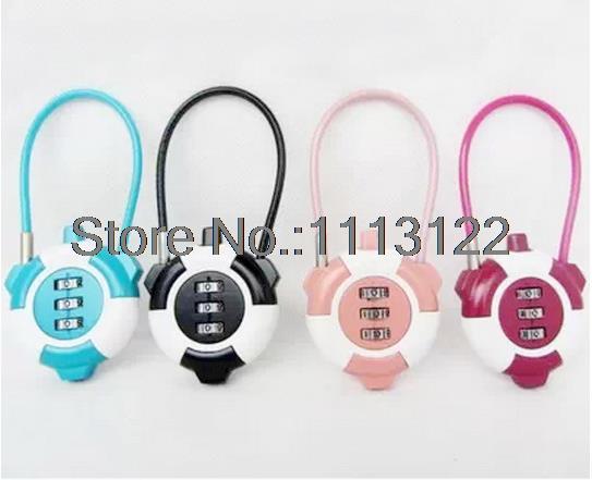 3 Digital Wire Combination Lock Back bags Password Lock 3 digit Password Lock Luggage lock 5 Pcs<br><br>Aliexpress